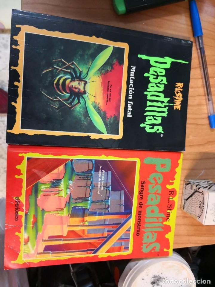 2 LIBROS PESADILLAS R. L. STINE TAPA BLANDA (Libros antiguos (hasta 1936), raros y curiosos - Literatura - Terror, Misterio y Policíaco)