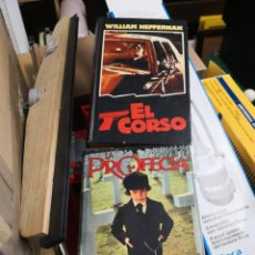 Libros antiguos: 2 LIBROS LA PROFECÍA(DAVID SELTZER) Y EL CORSO..(WILLIAM HEFFERNAN)..MUNDO ACTUAL DE EDICIONES.. . Lote 166788258