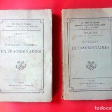 Libros antiguos: EDGAR ALLAN POE - HISTOIRES EXTRAORDINAIRES - TRADUCTION CHARLES BAUDELAIRE. 1885 - 2 VOLUMENES . Lote 168694456