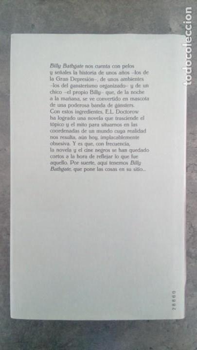 Libros antiguos: Billy Bathgate. E.L. Doctorow - Foto 2 - 171743563