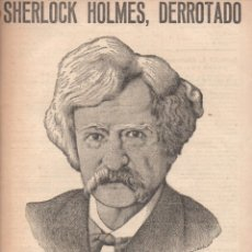 Libros antiguos: MARK TWAIN : SHERLOCK HOLMES DERROTADO (NOVELAS Y CUENTOS, 1932). Lote 172087375