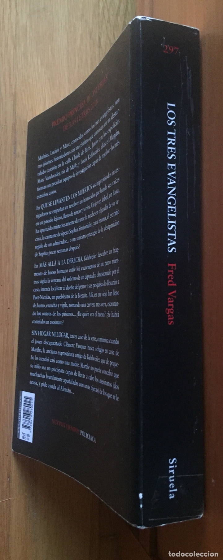 Libros antiguos: LOS TRES EVANGELISTAS, Fred Vargas - Foto 4 - 191706513