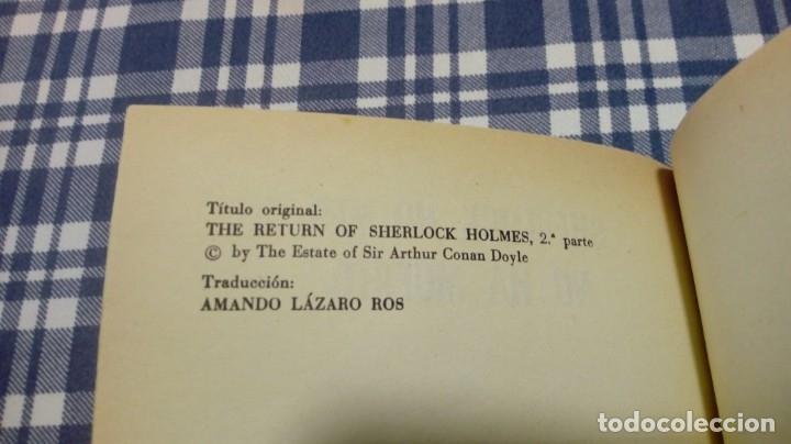 Libros antiguos: Sherlock Holmes no ha muerto Ed. Molino Excelente conservación - Foto 3 - 197466931