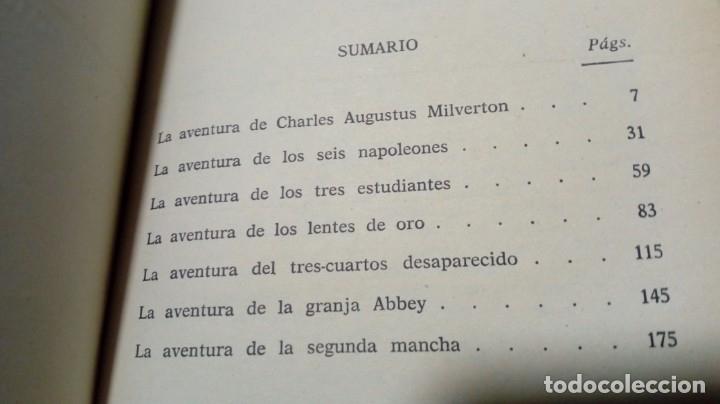 Libros antiguos: Sherlock Holmes no ha muerto Ed. Molino Excelente conservación - Foto 5 - 197466931