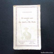 Libros antiguos: EL EXTRAÑO CASO DEL DR. JEKYLL Y MR. HYDE. R.L. STEVENSON. CIAP. MADRID (AÑOS 20). Lote 174494219