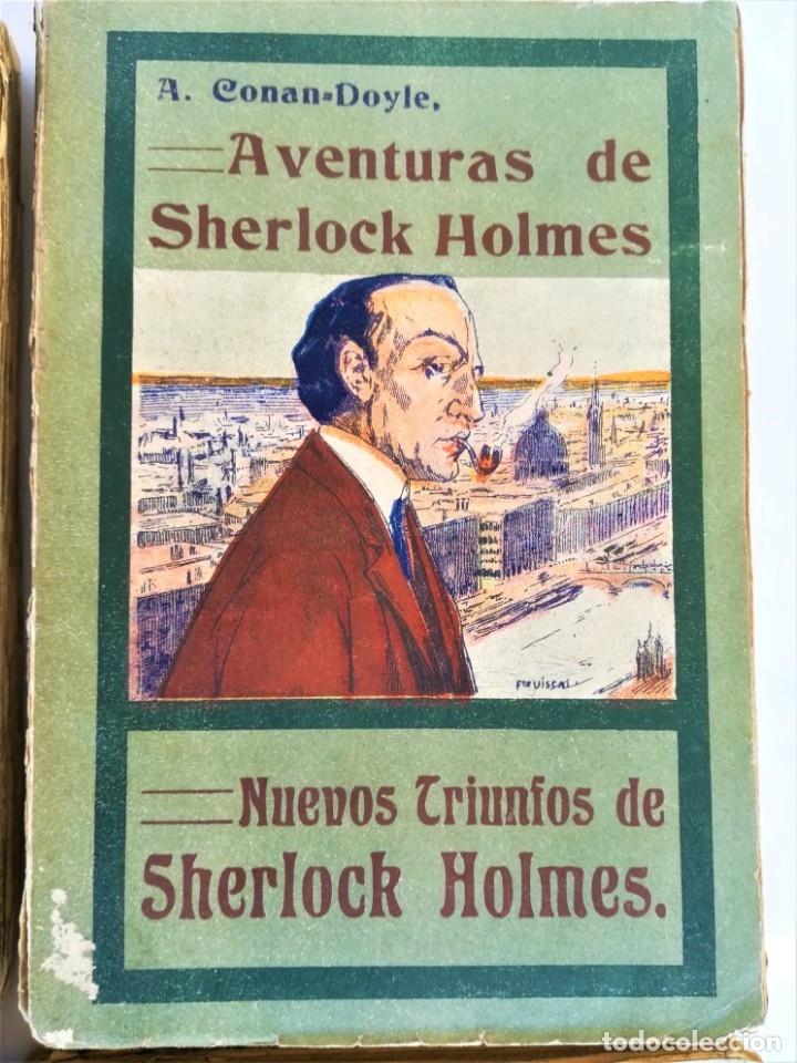 Libros antiguos: SHERLOCK HOLMES,4 NOVELAS AÑO 1909,MAS DE 110 AÑOS,DE ARTHUR CONAN DOYLE,EL PERRO DE BASKERVILLE,MAS - Foto 4 - 177404487