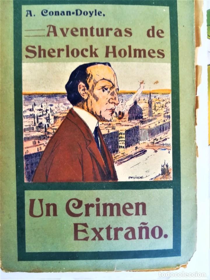 Libros antiguos: SHERLOCK HOLMES,4 NOVELAS AÑO 1909,MAS DE 110 AÑOS,DE ARTHUR CONAN DOYLE,EL PERRO DE BASKERVILLE,MAS - Foto 5 - 177404487