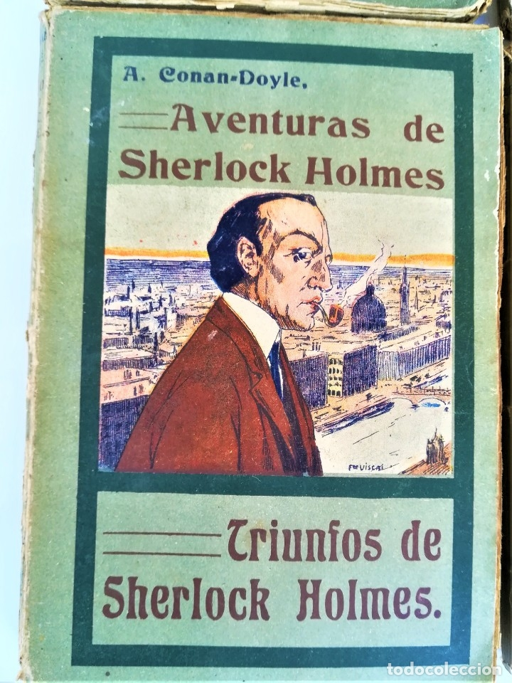 Libros antiguos: SHERLOCK HOLMES,4 NOVELAS AÑO 1909,MAS DE 110 AÑOS,DE ARTHUR CONAN DOYLE,EL PERRO DE BASKERVILLE,MAS - Foto 6 - 177404487