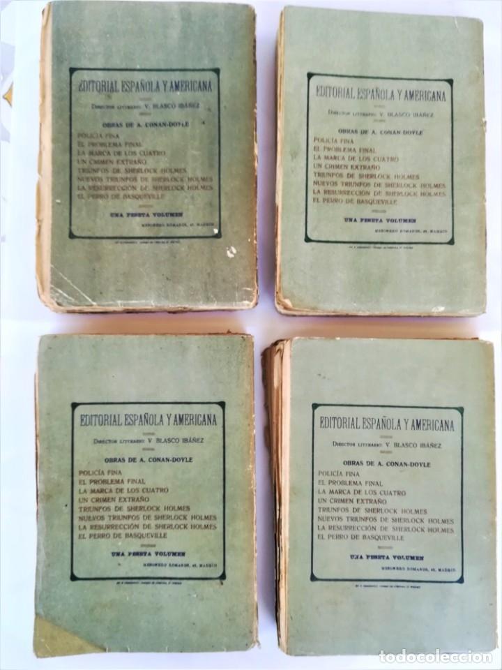 Libros antiguos: SHERLOCK HOLMES,4 NOVELAS AÑO 1909,MAS DE 110 AÑOS,DE ARTHUR CONAN DOYLE,EL PERRO DE BASKERVILLE,MAS - Foto 7 - 177404487