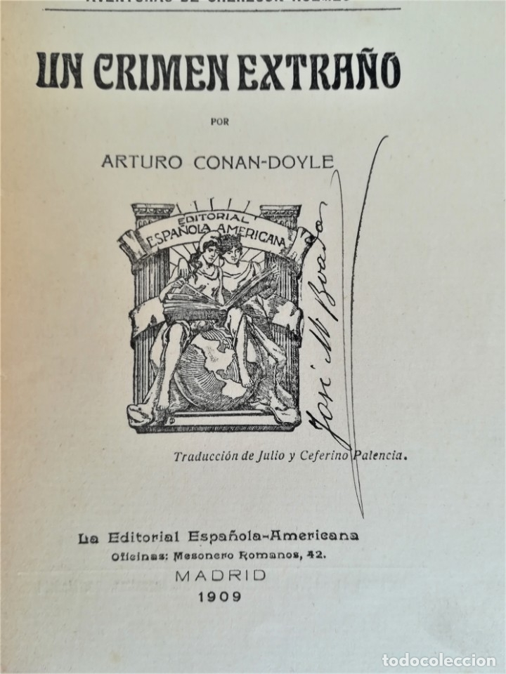 Libros antiguos: SHERLOCK HOLMES,4 NOVELAS AÑO 1909,MAS DE 110 AÑOS,DE ARTHUR CONAN DOYLE,EL PERRO DE BASKERVILLE,MAS - Foto 9 - 177404487