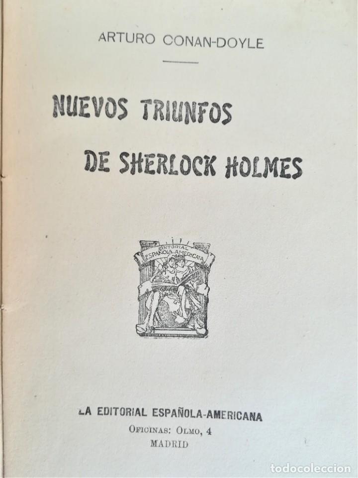 Libros antiguos: SHERLOCK HOLMES,4 NOVELAS AÑO 1909,MAS DE 110 AÑOS,DE ARTHUR CONAN DOYLE,EL PERRO DE BASKERVILLE,MAS - Foto 10 - 177404487