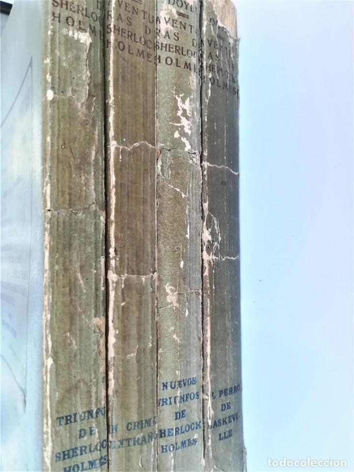 Libros antiguos: SHERLOCK HOLMES,4 NOVELAS AÑO 1909,MAS DE 110 AÑOS,DE ARTHUR CONAN DOYLE,EL PERRO DE BASKERVILLE,MAS - Foto 12 - 177404487