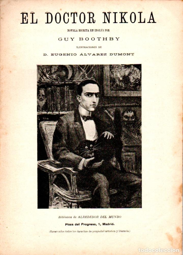 GUY BOOTHBY : EL DOCTOR NIKOLA (ALREDEDOR DEL MUNDO, C. 1920) (Libros antiguos (hasta 1936), raros y curiosos - Literatura - Terror, Misterio y Policíaco)