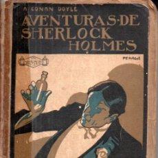 Libros antiguos: CONAN DOYLE : AVENTURAS DE SHERLOCK HOLMES - POLICÍA FINA (PROMETEO, S.F.). Lote 180483325