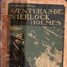 Libros antiguos: CONAN DOYLE : AVENTURAS DE SHERLOCK HOLMES - RESURRECCIÓN (PROMETEO, S.F.). Lote 180483468