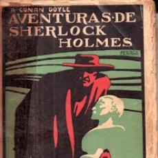 Libros antiguos: CONAN DOYLE : AVENTURAS DE SHERLOCK HOLMES - NUEVOS TRIUNFOS (PROMETEO, S.F.). Lote 180483730