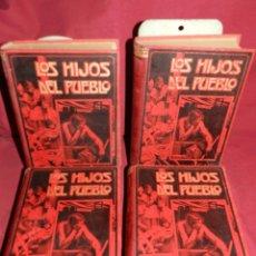 Libros antiguos: (MF) EUGENIO SUE - LOS HIJOS DEL PUEBLO, ILUSTRADO POR GASPAR CAMPS ( 4 VOLS. COMPLETO) . Lote 181036272