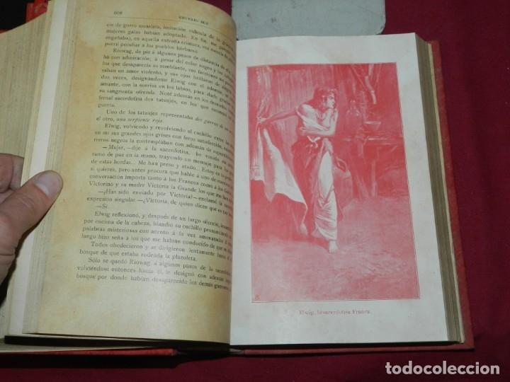 Libros antiguos: (MF) EUGENIO SUE - LOS HIJOS DEL PUEBLO, ILUSTRADO POR GASPAR CAMPS ( 4 VOLS. COMPLETO) - Foto 4 - 181036272