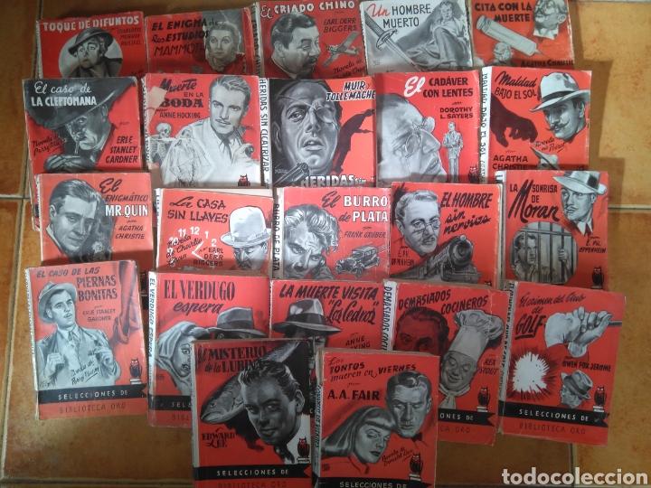 LOTE 22 NOVELAS SELECCIONES DE BIBLIOTECA ORO. ED. MOLINO AÑOS 40 Y 50- CUBIERTAS DE BOCQUET (Libros antiguos (hasta 1936), raros y curiosos - Literatura - Terror, Misterio y Policíaco)