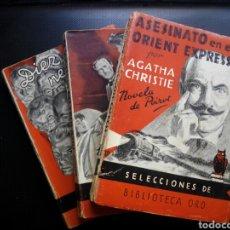 Libros antiguos: AGATHA CHRISTIE LOTE 3 LIBROS POIROT TREN AZUL ORIENT EXPRESS NEGRITOS. Lote 182757947