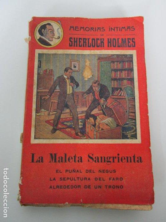 MEMORIAS ÍNTIMAS DE SHERLOCK HOLMES - LA MALETA SANGRIENTA - EDITORIAL ATLANTE, GRANADA (Libros antiguos (hasta 1936), raros y curiosos - Literatura - Terror, Misterio y Policíaco)