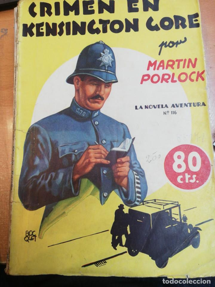 MARTIN PORLOCK. CRIMEN EN KENSINGTON GORE (Libros antiguos (hasta 1936), raros y curiosos - Literatura - Terror, Misterio y Policíaco)
