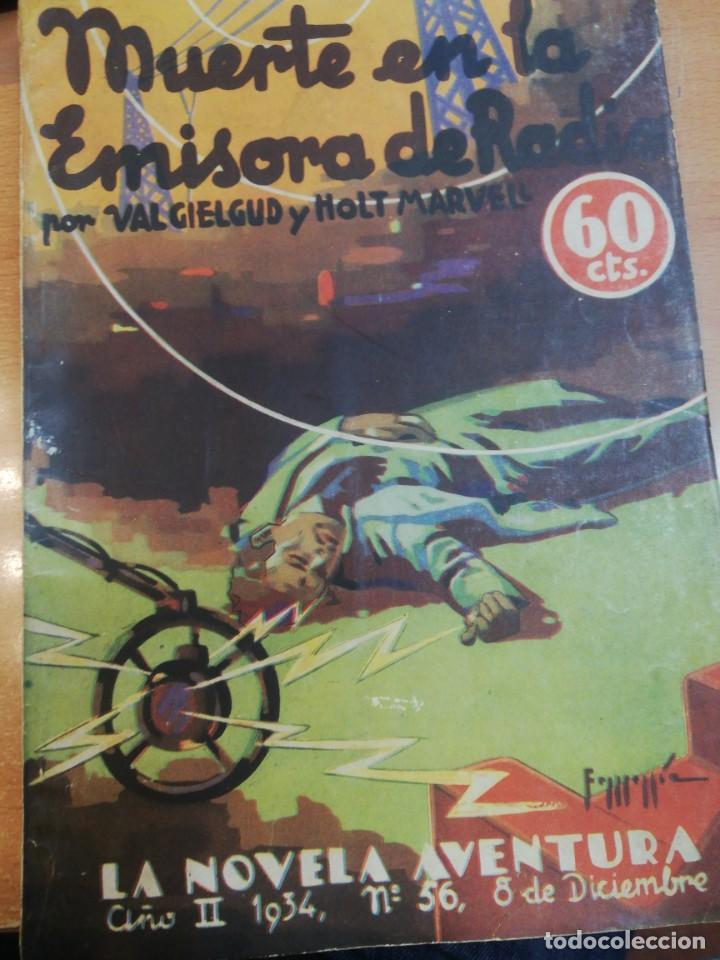 VAL GIELGUD/ HOLT MARVEL. MUERTE EN LA EMISORA DE RADIO (Libros antiguos (hasta 1936), raros y curiosos - Literatura - Terror, Misterio y Policíaco)