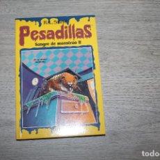 Libros antiguos: NOVELA, PESADILLAS Nº 16, SANGRE DE MONSTRUO II, EDICIONES B. Lote 190535611