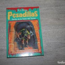 Libros antiguos: NOVELA, PESADILLAS Nº 19,NOCHE EN LA TORRE DEL TERROR, EDICIONES B. Lote 190535713