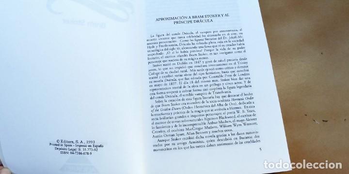 Libros antiguos: LIBRO TERROR/DRACULA/BRAM STOKER.tapa fina,398 paginas,año 1993, - Foto 2 - 191283366