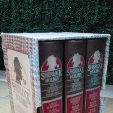 Libros antiguos: SHERLOCK HOLMES. OBRAS COMPLETAS. 3 TOMOS (10 TÍTULOS. Lote 193941606