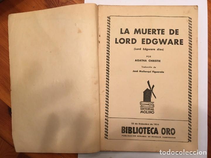Libros antiguos: novela policiaca, biblioteca oro,año 1934 por agatha chirstie nº 23 -- 1ª edicion - Foto 2 - 194072375