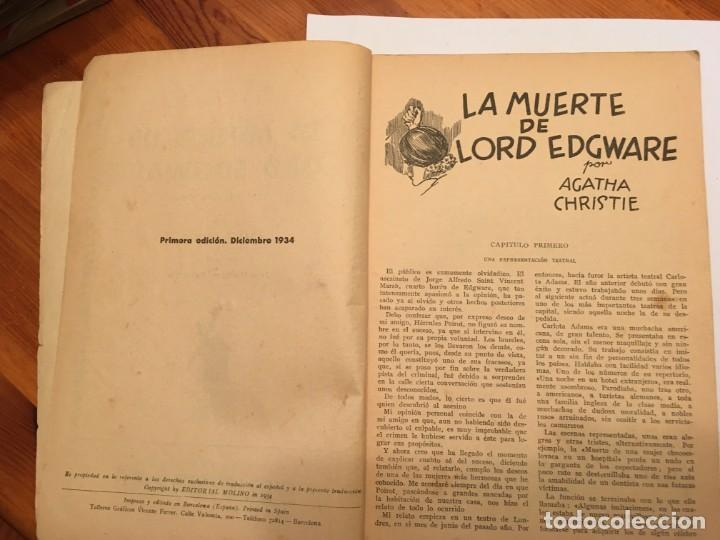 Libros antiguos: novela policiaca, biblioteca oro,año 1934 por agatha chirstie nº 23 -- 1ª edicion - Foto 4 - 194072375