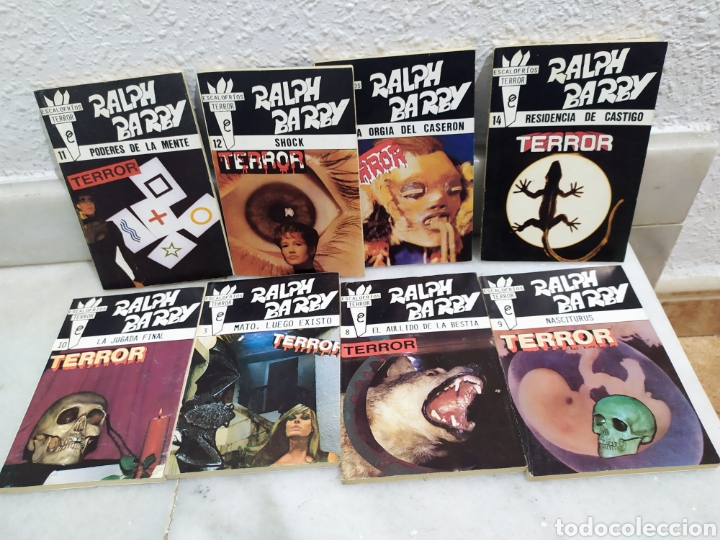 LOTE 8 NOVELAS ESCALOFRIOS TERROR RALPH BARBY DEL 8 AL 14 CORRELATIVAS MAS EL 3 (Libros antiguos (hasta 1936), raros y curiosos - Literatura - Terror, Misterio y Policíaco)