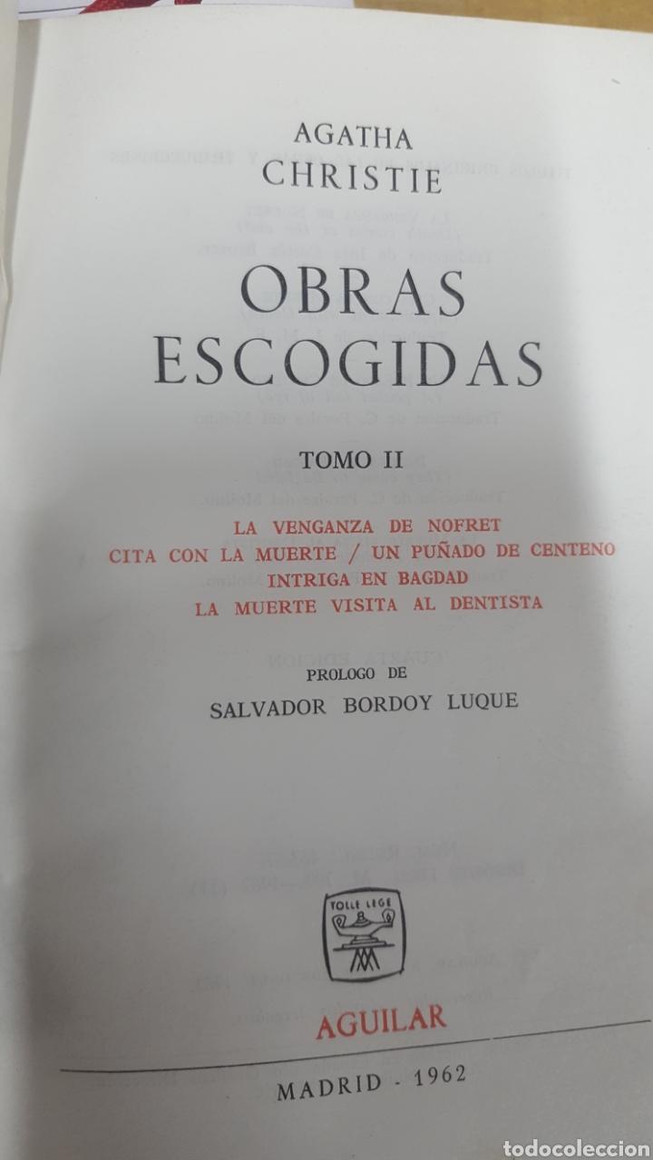 Libros antiguos: AGATHA CHRISTIE: OBRAS ESCOGIDAS, tomos 1, 2 y 3 Lince astuto y Obras tomo I de Aguilar. - Foto 5 - 194610601