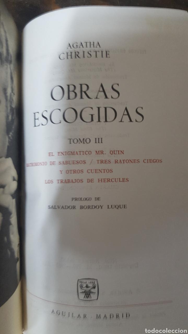 Libros antiguos: AGATHA CHRISTIE: OBRAS ESCOGIDAS, tomos 1, 2 y 3 Lince astuto y Obras tomo I de Aguilar. - Foto 6 - 194610601