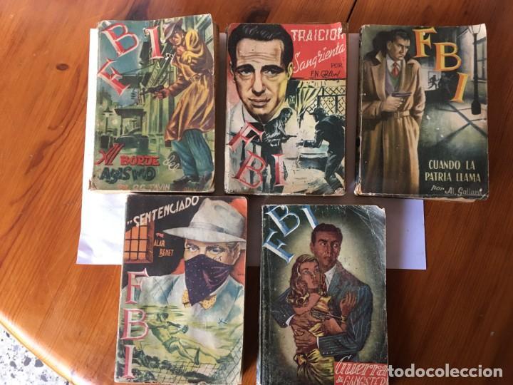 NOVELA FBI POLICIACA Nº 12- 79-88- 89- 165 VIEJAS AÑOS 1950 LOTE 5 NOVELAS (Libros antiguos (hasta 1936), raros y curiosos - Literatura - Terror, Misterio y Policíaco)