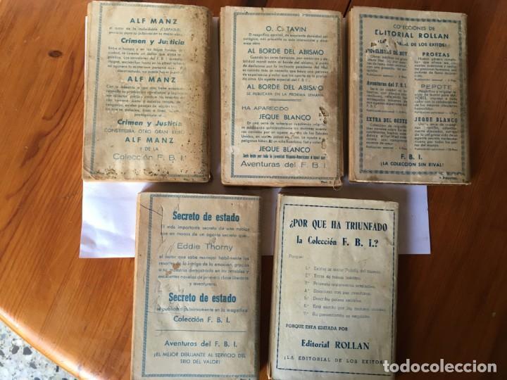 Libros antiguos: novela FBI policiaca nº 12- 79-88- 89- 165 viejas años 1950 lote 5 novelas - Foto 2 - 194863051