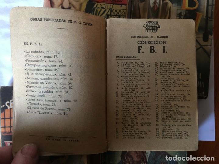 Libros antiguos: novela FBI policiaca nº 12- 79-88- 89- 165 viejas años 1950 lote 5 novelas - Foto 4 - 194863051