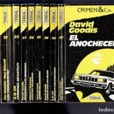 Libros antiguos: LOTE DE 10 TOMOS POLICIACAS NOVELA CRIMEN Y CIA EDICIONES VERSAL 1947 N,6,8,12,23,27,34,35,36,38,47. Lote 195098093