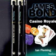 Libros antiguos: 3 NOVELAS DE JAMES BOND 007 POR IAN FLEMING AÑO 1998,GOLFINGER,CASINO ROYALE Y DESDE RUSIA CON AMOR. Lote 195106568