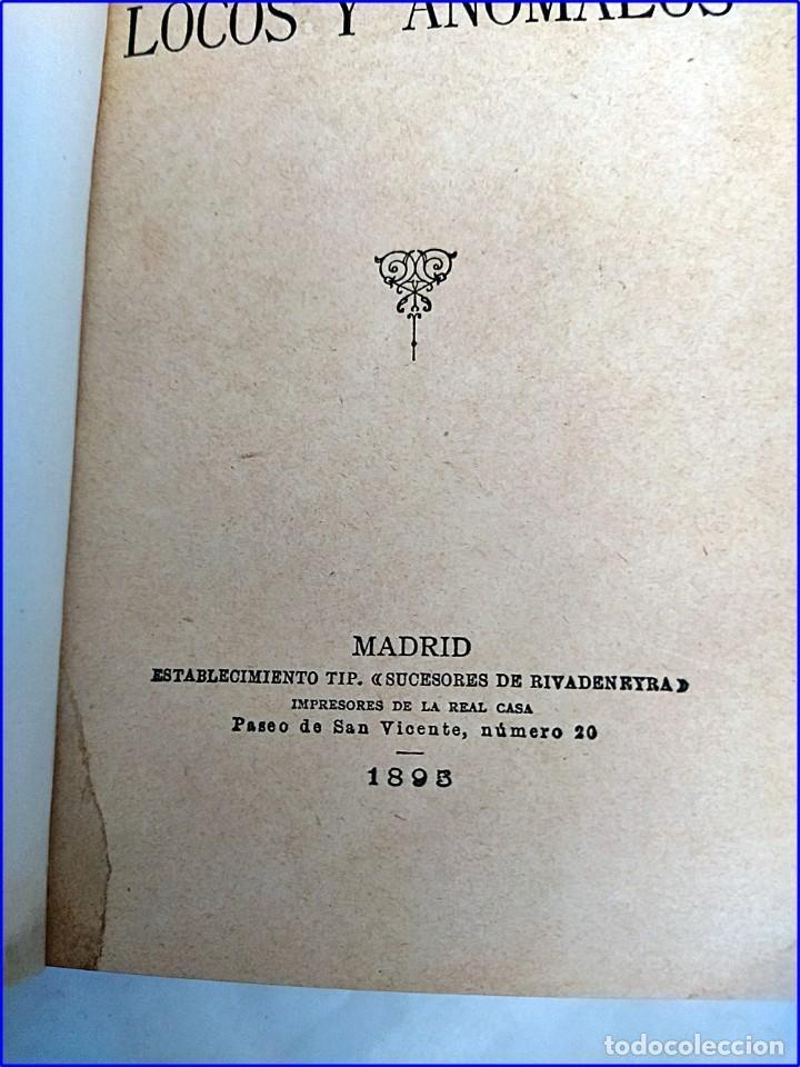 Libros antiguos: Año 1895: Locos y anómalos. Raro libro español sobre asesinatos. Siglo XIX. - Foto 3 - 195136127
