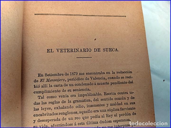 Libros antiguos: Año 1895: Locos y anómalos. Raro libro español sobre asesinatos. Siglo XIX. - Foto 4 - 195136127