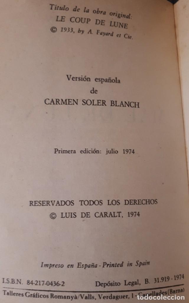 Libros antiguos: Mal de luna – Simenon - Foto 2 - 195273576