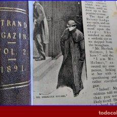 Libros antiguos: AÑO 1891: LAS AVENTURAS DE SHERLOCK HOLMES. CONAN DOYLE. 1ª EDICIÓN.. Lote 195693285