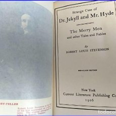 Libros antiguos: AÑO 1906: DOCTOR JEKYLL Y MISTER HYDE. STEVENSON.. Lote 195804040