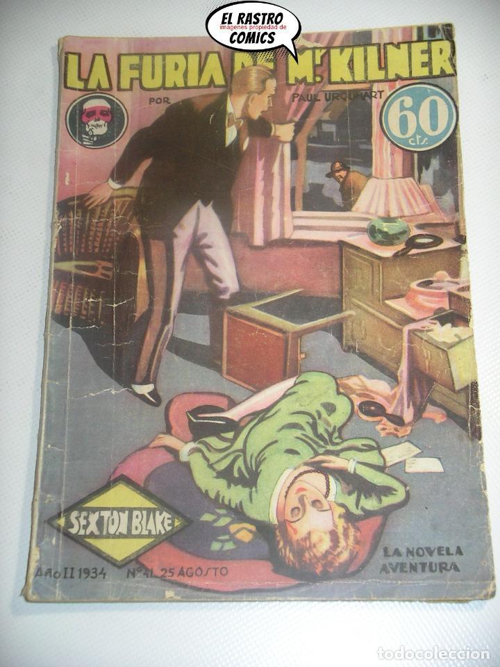 SEXTON BLAKE Nº 41, LA FURIA DE MR KILNER, ED. HYMSA AÑO 1934, DETECTIVES Y AVENTURAS, PULP (Libros antiguos (hasta 1936), raros y curiosos - Literatura - Terror, Misterio y Policíaco)