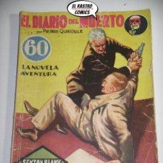 Libros antiguos: SEXTON BLAKE Nº 43, EL DIARIO DEL MUERTO, ED. HYMSA AÑO 1934, DETECTIVES Y AVENTURAS, PULP. Lote 197480667