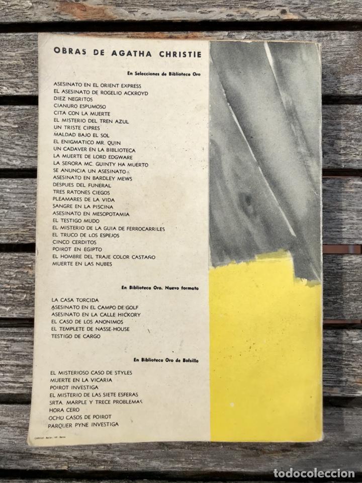 Libros antiguos: TRAYECTORIA DE BOOMERANG. AUT, AGATHA CHRISTIE. BIBLIOTECA ORO Nº 152, ED. MOLINO AÑO 1959, VER FOTO - Foto 4 - 197510490