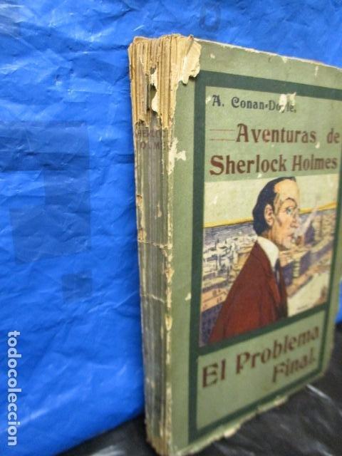 Libros antiguos: aventuras de sherlock holmes el problema final 1907 - Foto 2 - 220632763